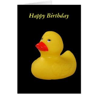 Rubber duck cute fun yellow happy birthday card