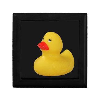 Rubber duck cute fun yellow jewelry box