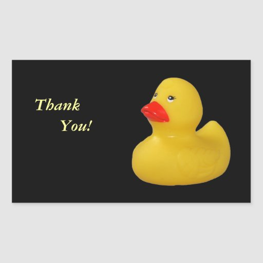 Rubber duck cute yellow thank you stickers