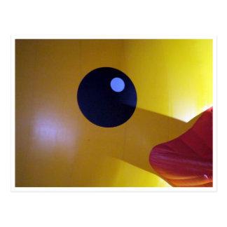 rubber duck eye postcard