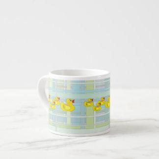 Rubber Duck Family on Henry Plaid Espresso Mug