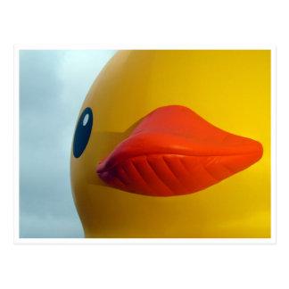 rubber duck lips postcard