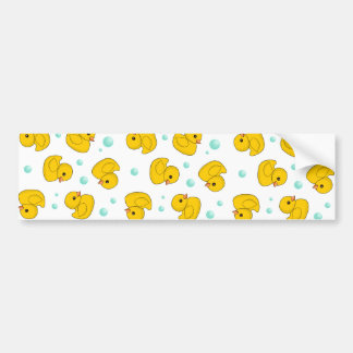 Rubber Duck Pattern Bumper Sticker