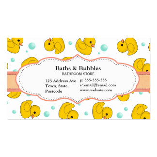 Rubber Duck Pattern Business Card Templates