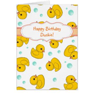 Rubber Duck Pattern Card