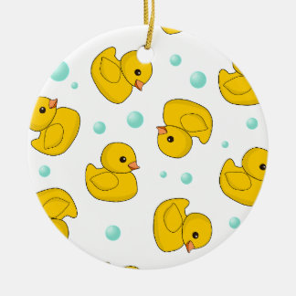 Rubber Duck Pattern Christmas Ornament