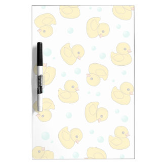 Rubber Duck Pattern Dry Erase Board