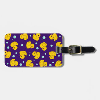 Rubber Duck Pattern Luggage Tag