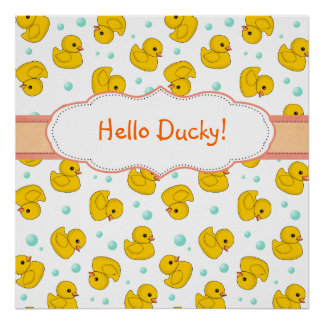 Rubber Duck Pattern Poster