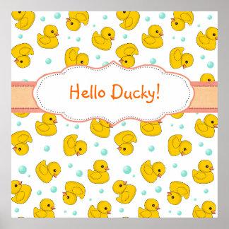 Rubber Duck Pattern Print