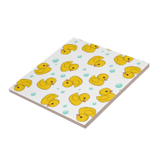 Rubber Duck Pattern Small Square Tile