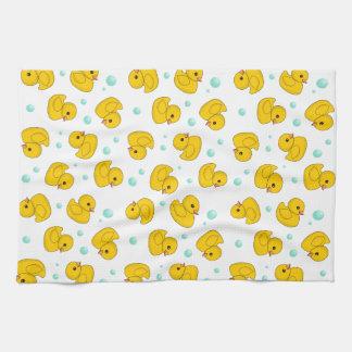 Rubber Duck Pattern Tea Towel