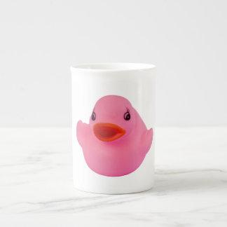 Rubber duck pink cute fun bone china mug, gift bone china mug