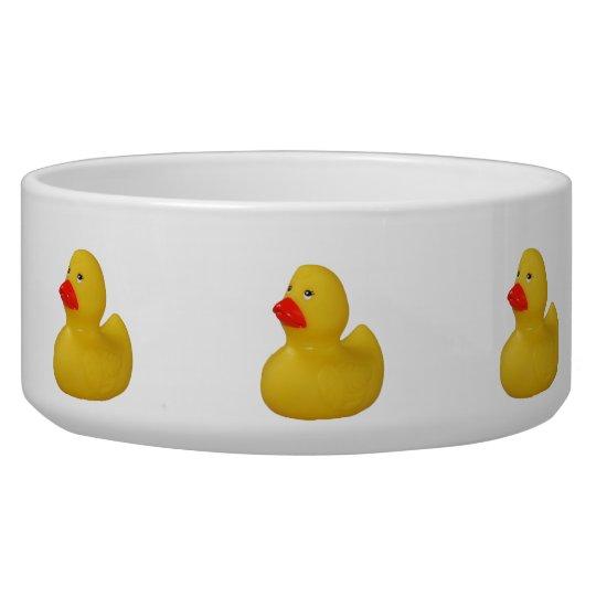 Rubber duck yellow cute fun dog pet bowl