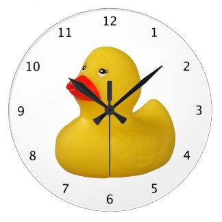 Rubber duck yellow fun cute novelty gift large clock