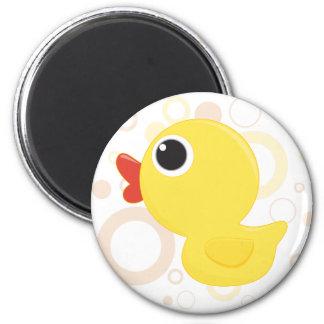 Rubber Duckie 6 Cm Round Magnet