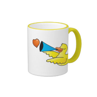 Rubber duckie loud speaker ringer mug