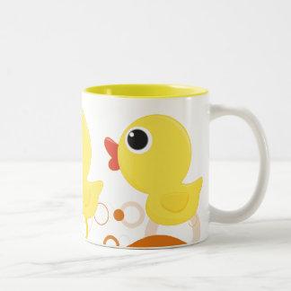Rubber Duckie Two-Tone Coffee Mug