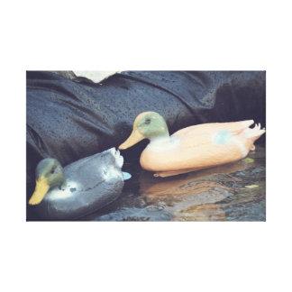 Rubber ducks canvas prints