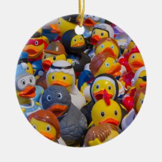 Rubber Ducks Christmas Ornament