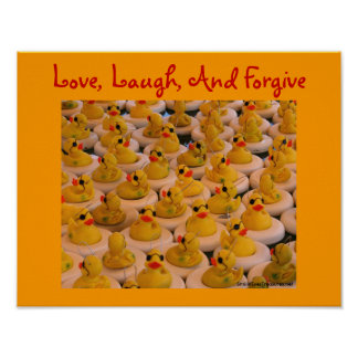 Rubber Ducks Inspirational Quote Poster