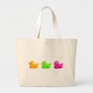 Rubber Ducks Large Tote Bag