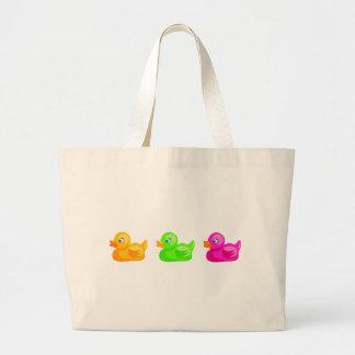 Rubber Ducks Large Tote Bag