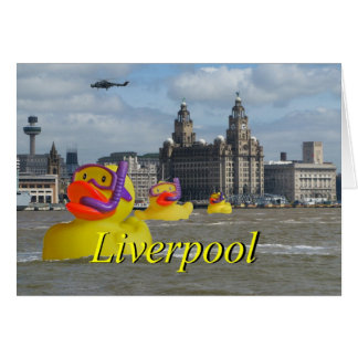 Rubber Ducks On The Mersey Card