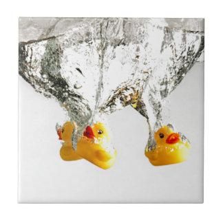 Rubber Ducks Small Square Tile