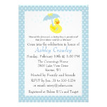 Rubber Ducky Baby Boy Shower invite - customise