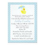 Rubber Ducky Baby Boy Shower invite - customise 13 Cm X 18 Cm Invitation Card