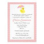 Rubber Ducky Baby Girl Shower invite - customise