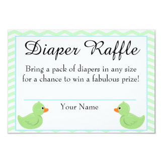 Rubber Ducky Baby Shower Diaper Raffle Card