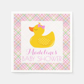 Rubber Ducky Baby Shower Disposable Napkin