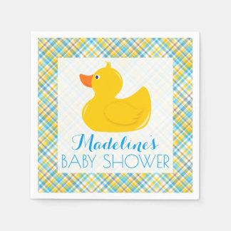 Rubber Ducky Baby Shower Disposable Serviette