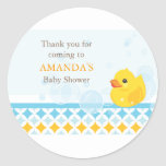 Rubber Ducky Baby Shower Favour Sticker