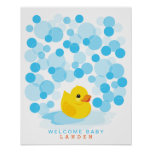 Rubber Ducky | Baby shower guest book Print