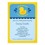Rubber Ducky Baby Shower Invitation