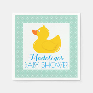 Rubber Ducky Baby Shower Paper Napkin