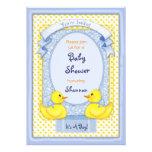 Rubber Ducky Blue Shower Invitation Card
