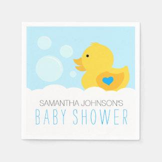 Rubber Ducky Bubble Bath Boy Baby Shower Disposable Serviettes