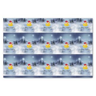 Rubber Ducky Christmas Greetings Tissue Paper