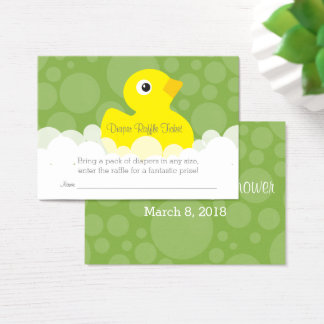 Rubber Ducky Diaper Raffle Ticket - Green