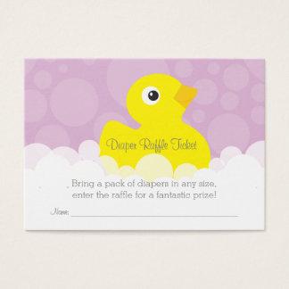 Rubber Ducky Diaper Raffle Ticket - Lilac