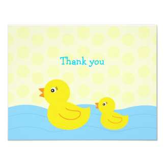 Rubber Ducky Duck Flat Thank You Note Cards 11 Cm X 14 Cm Invitation Card