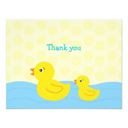 Rubber Ducky Duck Flat Thank You Note Cards