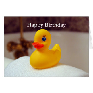 Rubber Ducky Happy Birthday Greeting Card