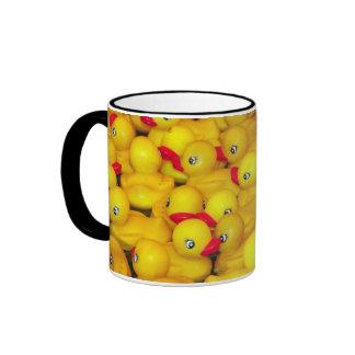 Rubber ducky pattern coffee mug