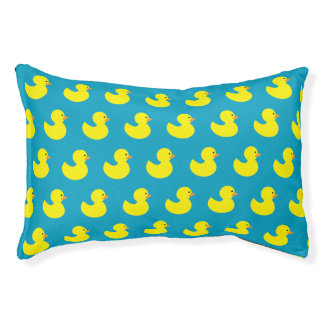 Rubber Ducky Pattern Dog Bed