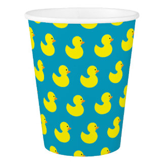 Rubber Ducky Pattern Paper Cups